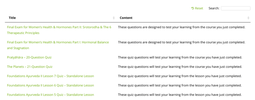 List LearnDash Quizzes WordPress plugin