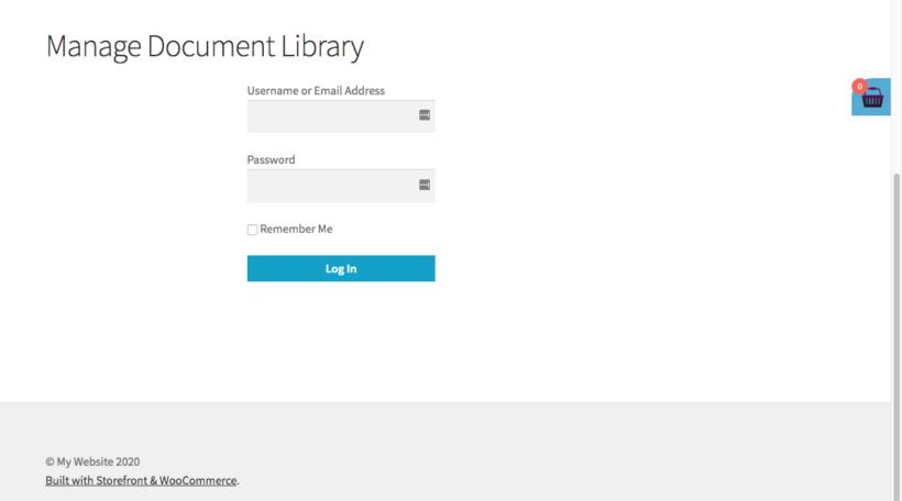Login to access WordPress front end editor plugin