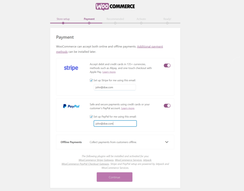 Payments WooCommerce