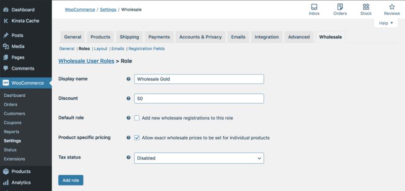 Add WooCommerce wholesale user role