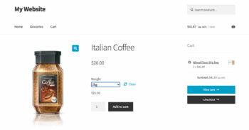 WooCommerce display price in kg