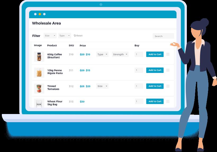 E-commerce wholesale plugin cropped