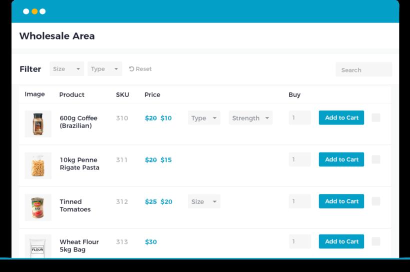 WooCommerce Wholesale Pro prices 1