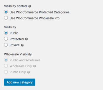 WooCommerce Wholesale Pro and WooCommerce Protected Categories category visibility