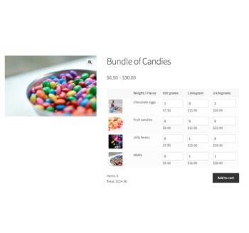 WooCommerce Bulk Variations matrix preview