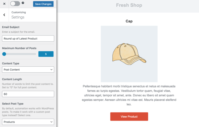 Mail Optin WooCommerce new products