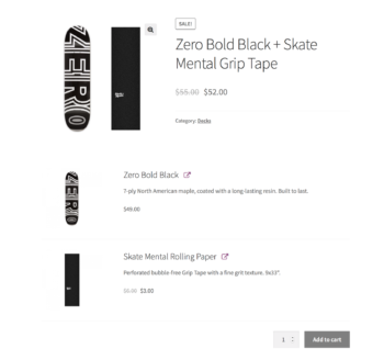 WooCommerce Product Bundles plugin on the front-end