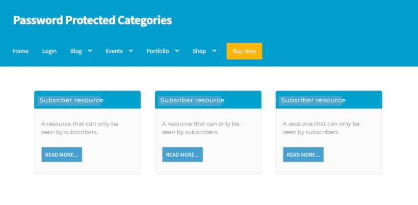 subscriber resources WordPress