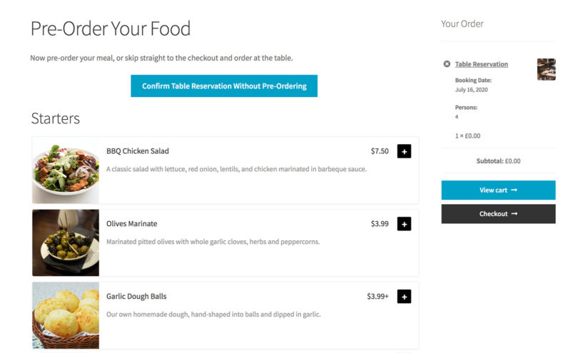 WooCommerce pre-order restaurant food plugin