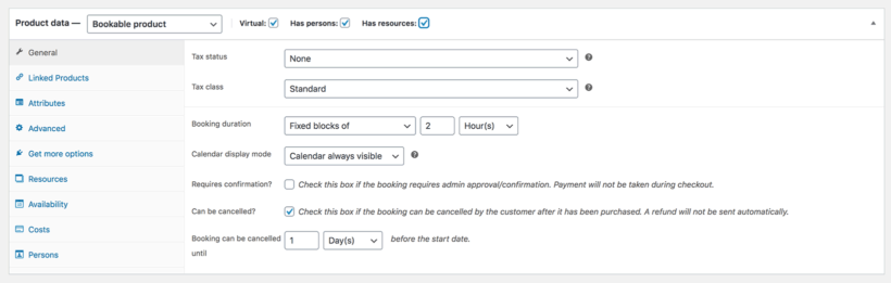 WooCommerce table reservation plugin