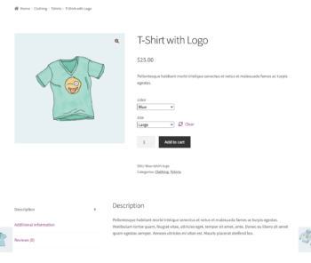 Single product page for logged in users
