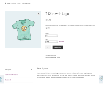 Single product page for wholesale users