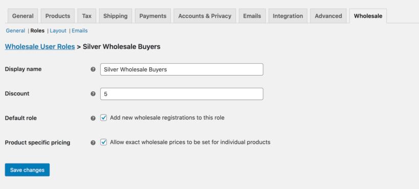 Add new wholesale user
