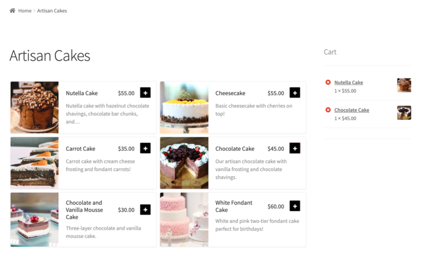 Food order form to sell food online from home