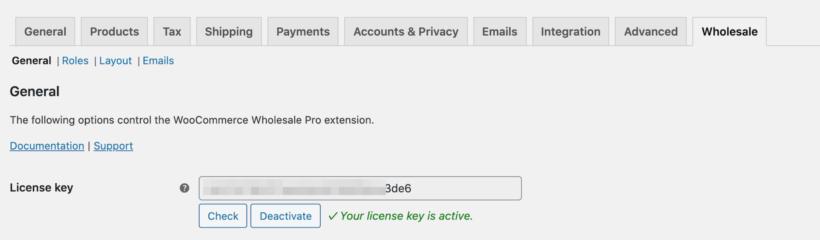 WooCommerce Wholesale Pro license key