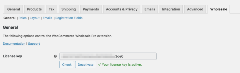 WooCommerce Wholesale Pro license key