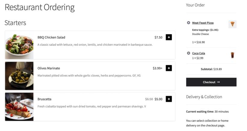 Multivendor restaurant chain online ordering