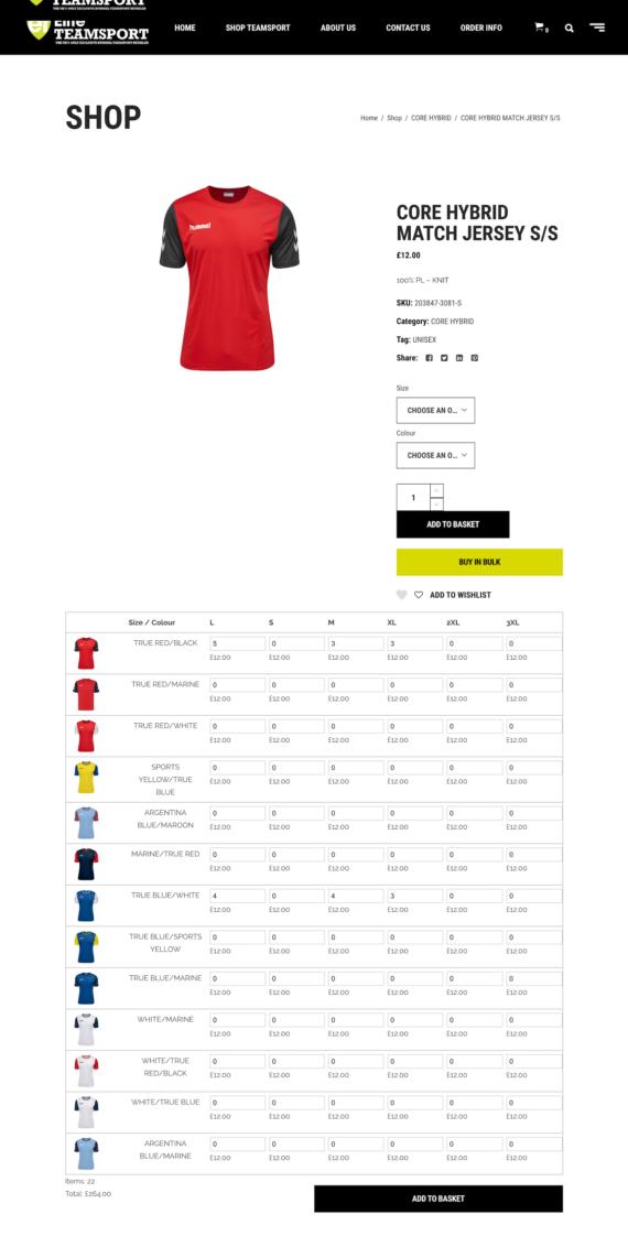 Sell teamwear Elite Teamsport