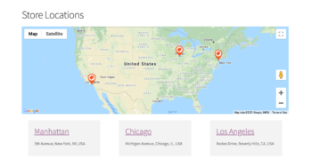 Display WooCommerce store locations
