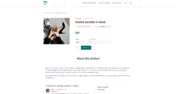 In stock product template