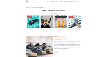 Out of stock product template Toolset