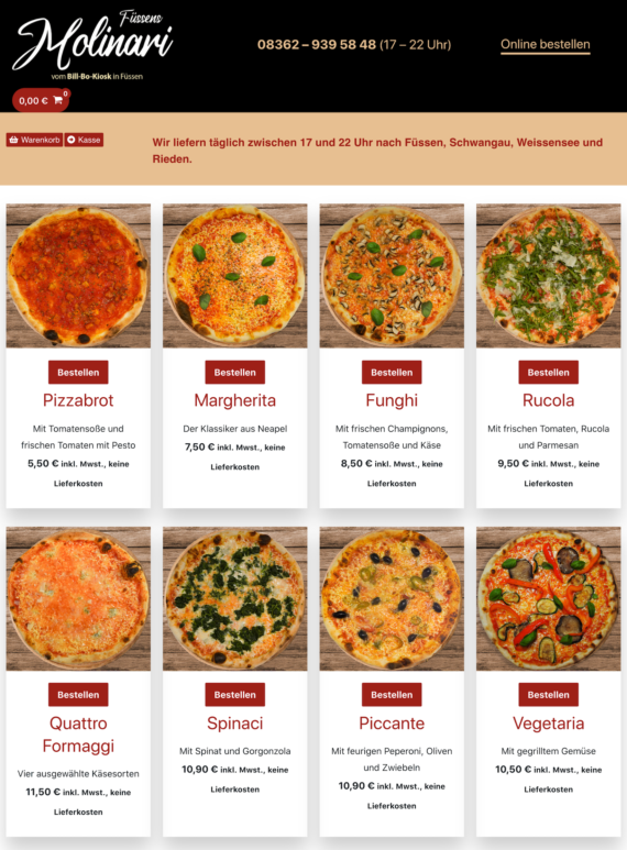 Pizza Molinari Fussen