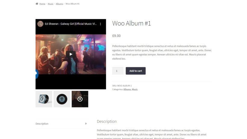 WooCommerce video gallery