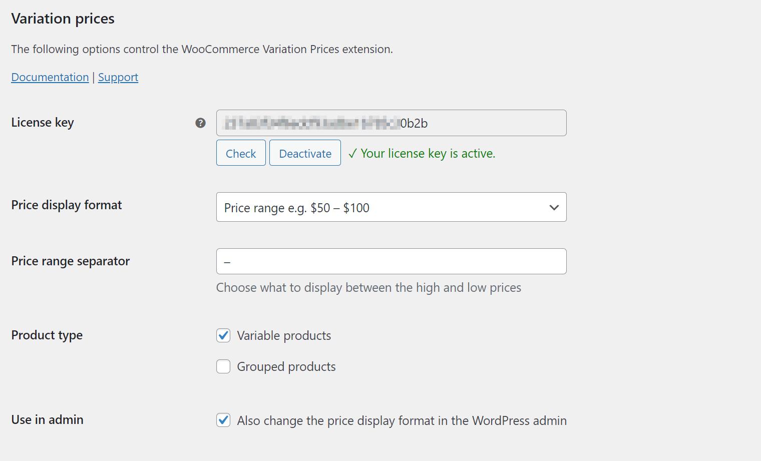 Price range separator