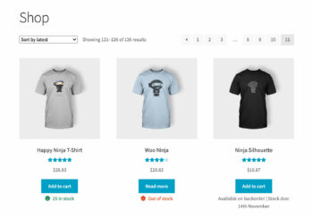 WooCommerce show stock shop category page
