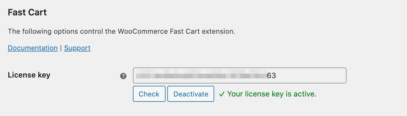 Fast Cart license key