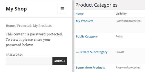 WooCommerce Protected Categories WordPress Plugin - Password