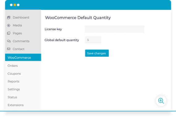 WooCommerce global default quantity