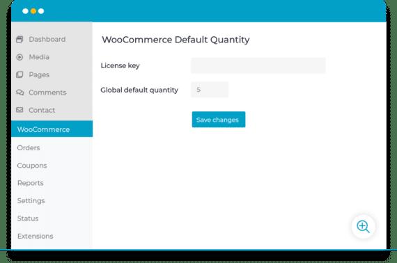 WooCommerce global default quantity