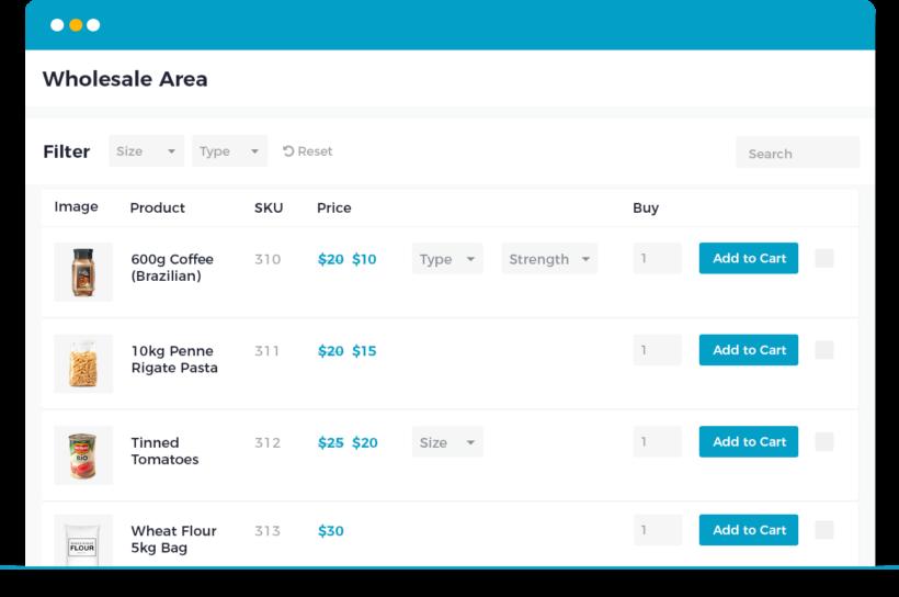 WooCommerce Wholesale Pro wholesale default layout