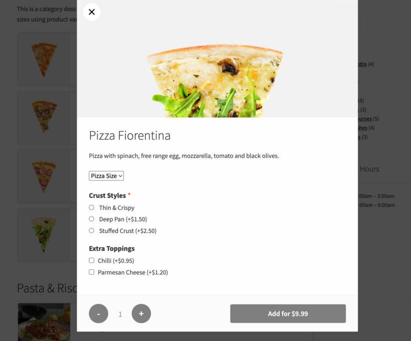 WooCommerce Restaurant Ordering plugin integration