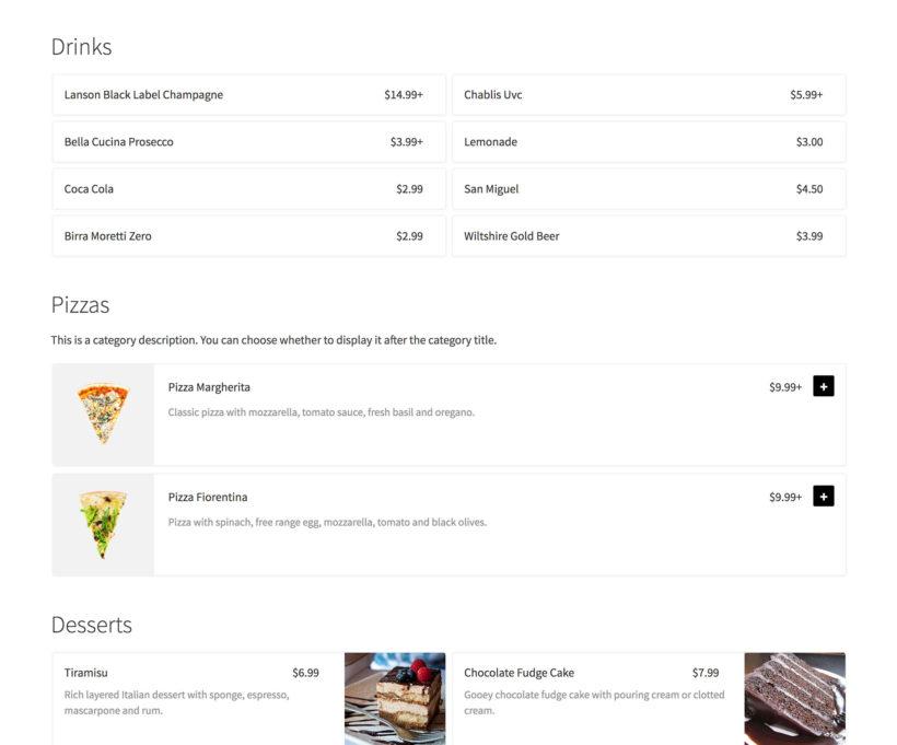 WooCommerce resturant plugin flexible food order forms