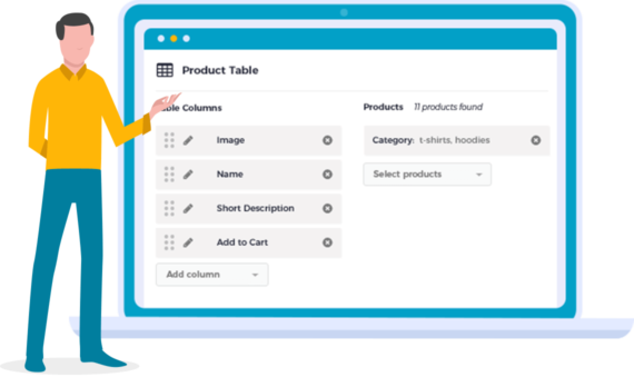 Gutenbrug Block for WooCommerce Product table free