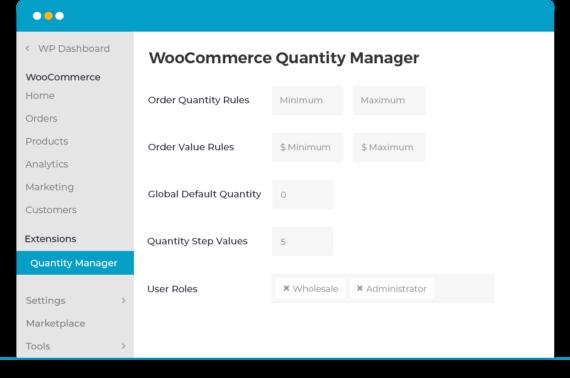 WooCommerce Quantity Plugin settings