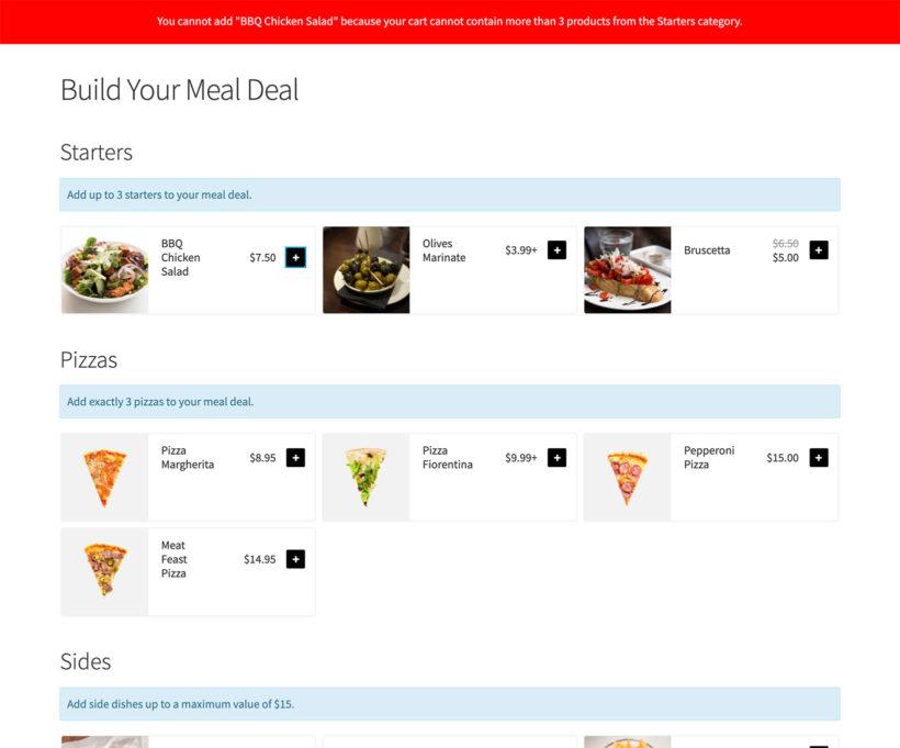 WooCommerce quantity plugin screenshot restaurant